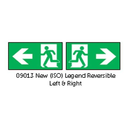 Bell 09013 Spectrum Blade ISO Emergency Exit Left/Right Legend