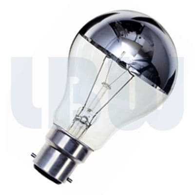 Crown Silver Light Bulb 60w Bayonet Cap