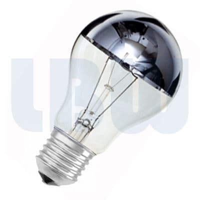 Crown Silver Light Bulb 60w Screw Cap