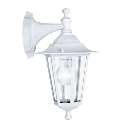 Eglo 22462 Laterna 5 Traditional Wall Light with Upper Arm - White