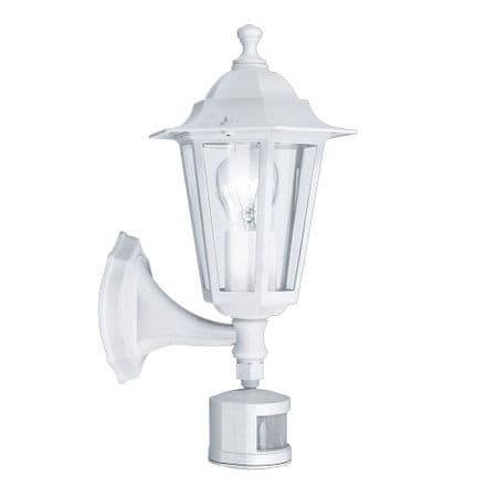 Eglo 22464 Laterna 5 Traditional Wall Light with Lower Arm and PIR - White