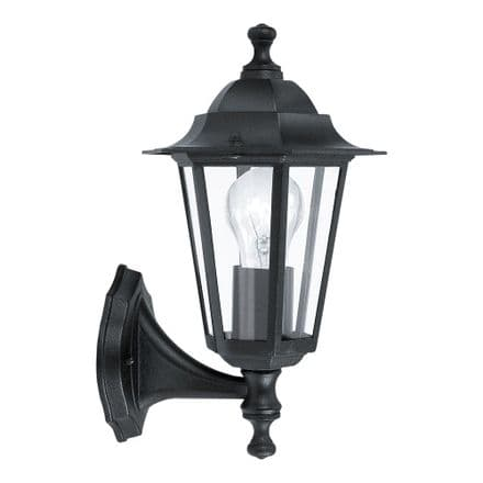 Eglo 22468 Laterna 4 Traditional Wall Light with Lower Arm - Black