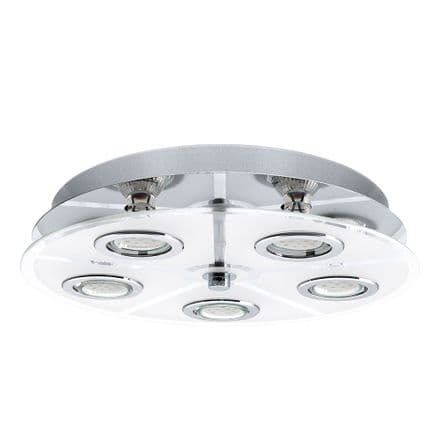 Eglo 30933 Cabo Chrome and Satinated Glass Ceiling Fitting
