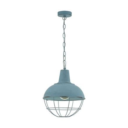 Eglo 33027 Cannington 1 Pendant Grey-Blue