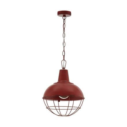 Eglo 33031 Cannington 1 Pendant Patina Red