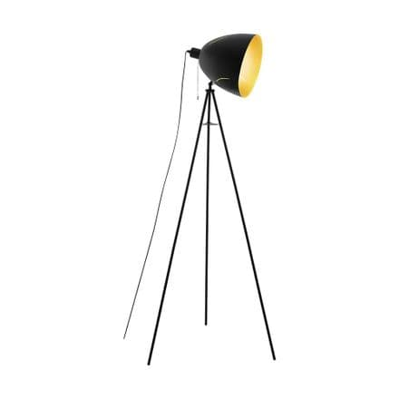 Eglo 43008 Hunningham Floor Lamp Black Gold