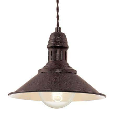 Eglo 49455 Stockbury Vintage Antique Brown Pendant