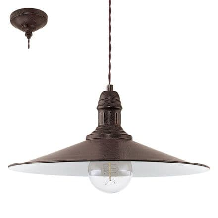 Eglo 49456 Stockbury Vintage Antique Brown Pendant