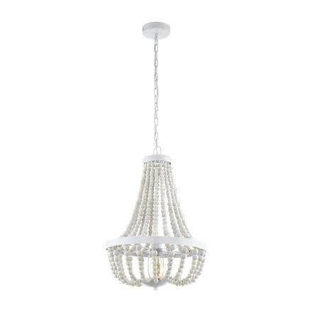 Eglo 49607 Barrhill White Wooden Beaded Ceiling Pendant