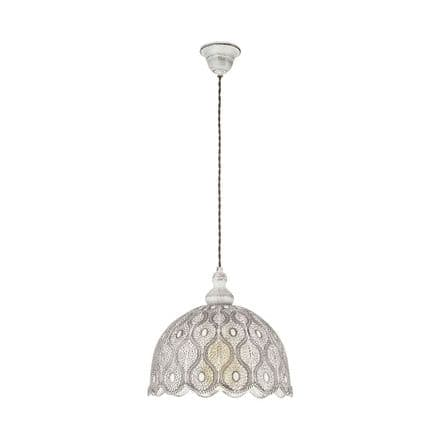 Eglo 49717 Talbot 2 Antique White Decorative Hanging Pendant