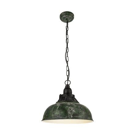 Eglo 49735 Grantham 1 Antique Green Reclaimed Style Pendant