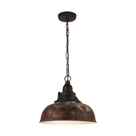 Eglo 49819 Grantham 1 Antique Brown Reclaimed Style Pendant