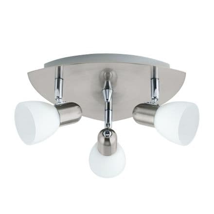 Eglo 90986 Enea Satin Nickel Adjustable Triple Spot Light Fitting