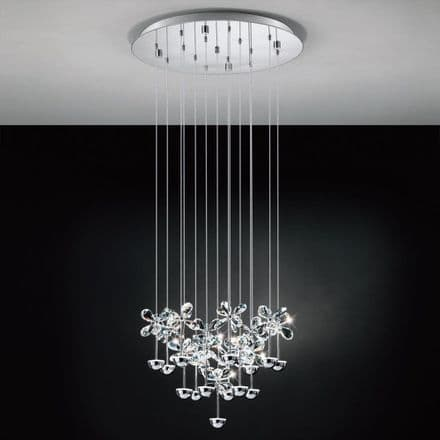 Eglo 93662 Pianopoli Crystal Feature Hanging Pendant Light