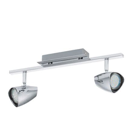 Eglo 93673 Corbera Chrome Retro Twin LED Spot Light