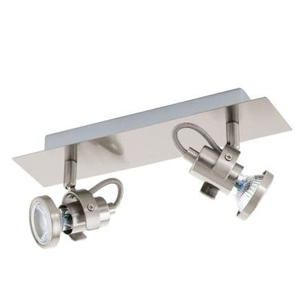 Eglo 94145 Tukon 3 Satin Nickel LED Adjustable Twin Spot Light