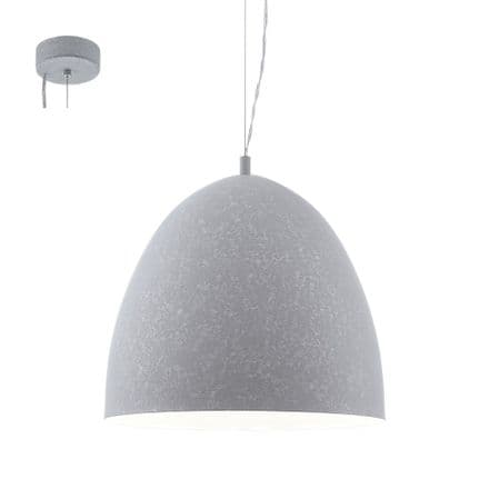 Eglo 94354 Sarabia 405mm Concrete Grey Hanging Pendant