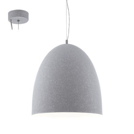 Eglo 94355 Sarabia 485mm Concrete Grey Hanging Pendant