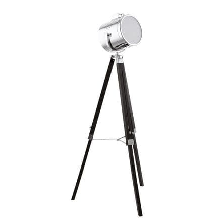Eglo 94368 Upstreet Search Light Style  Floor Lamp Black & Chrome