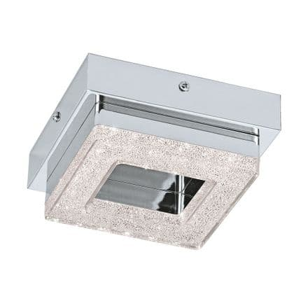 Eglo 95655 Fradelo Single Square LED Crystal Ceiling Fitting