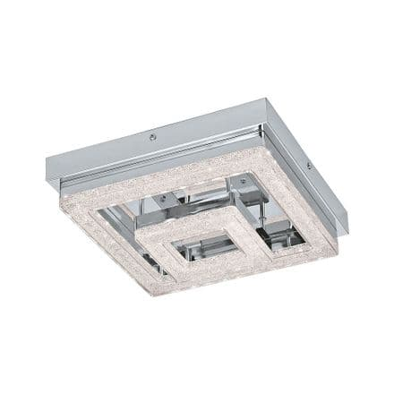 Eglo 95659 Fradelo Double Square LED Crystal Ceiling Fitting