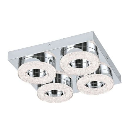 Eglo 95664 Fradelo Four Round LED Crystal Ceiling Fitting