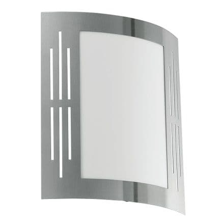 Eglo City Light with Opal Diffuser - Stainless Steel