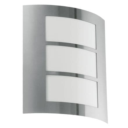Eglo City Light with Slatted Opal Diffuser - Stainless Steel