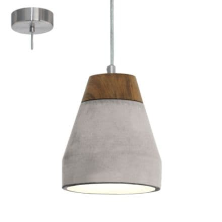 Eglo Tarega 95525 Ceiling Fitting Concrete & Wood