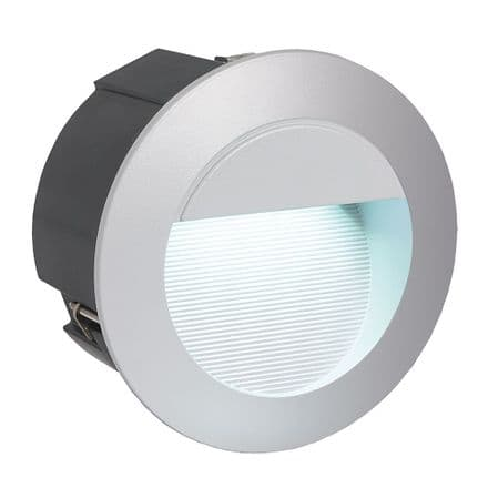 Eglo Zimba Recessed Round LED Wall Light - Silver