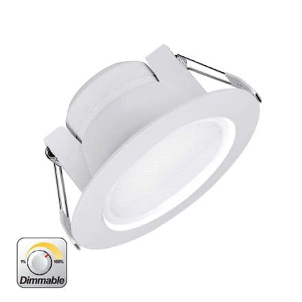 Enlite Uni-Fit 10W Triac Dimmable Round Commercial LED Downlight Cool White