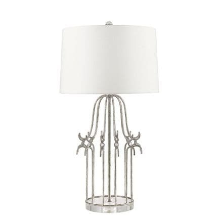Gilded Nola Stella 1 Light Table Lamp Distressed Silver
