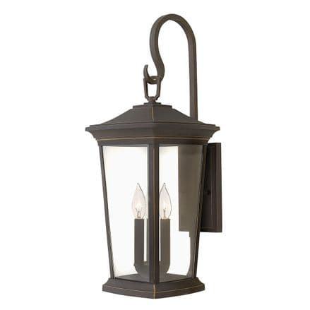 Hinkley Bromley 3 Light Large Wall Lantern Oiled Bronze