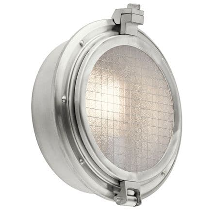 Kichler Clearpoint Outdoor Wall Light Brushed Aluminum