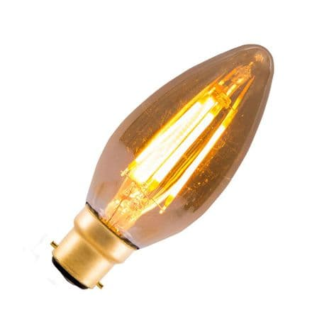 LED Vintage Filament Dimmable Candle Bulb Bell BC 4W