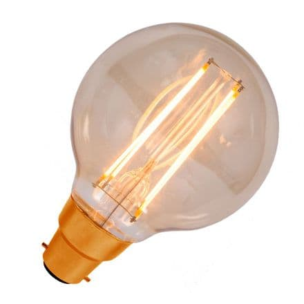 LED Vintage Filament Dimmable Globe 80mm Bell BC 4W