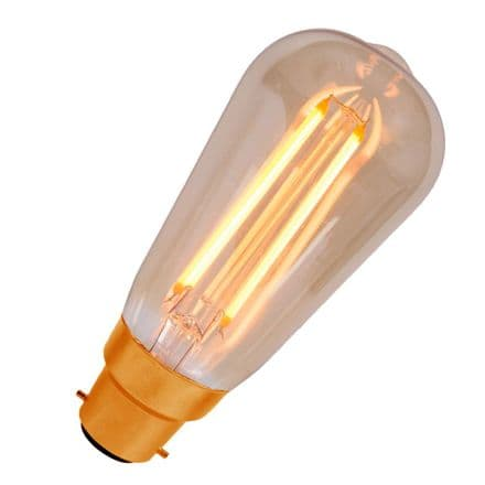 LED Vintage Filament Dimmable Squirrel Cage Bell BC 4W