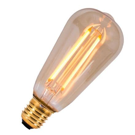 LED Vintage Filament Dimmable Squirrel Cage Bell ES 4W