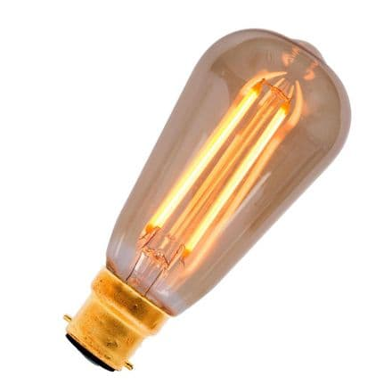 LED Vintage Filament Squirrel Cage Bell BC 4W