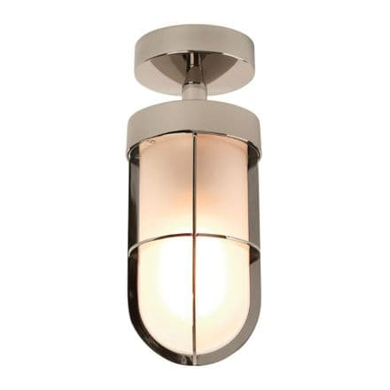 Astro 1368010 Cabin Semi Flush Frosted Polished Nickel