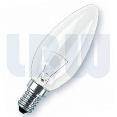 Candle Light Bulb 25w Small Screw Cap Clear