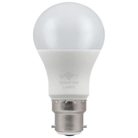 Crompton 8.5W Smart LED GLS Dimmable RGBW 3000K BC