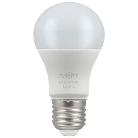 Crompton 8.5W Smart LED GLS Dimmable RGBW 3000K ES
