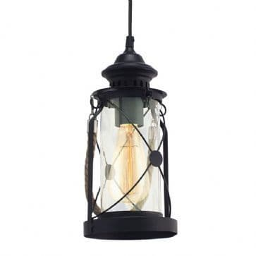 Eglo 49213 Bradford Hurricane Lamp Black