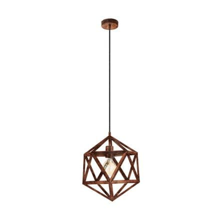 Eglo 49797 Embleton Antique Copper Industrial Pendant