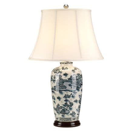 Elstead Blue Traditional Table Lamp Blue