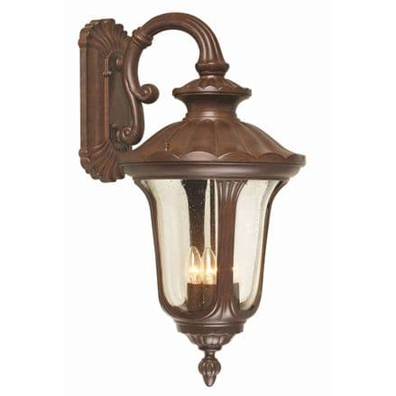 Elstead Chicago 4 Light Large Down Wall Lantern Rusty Bronze