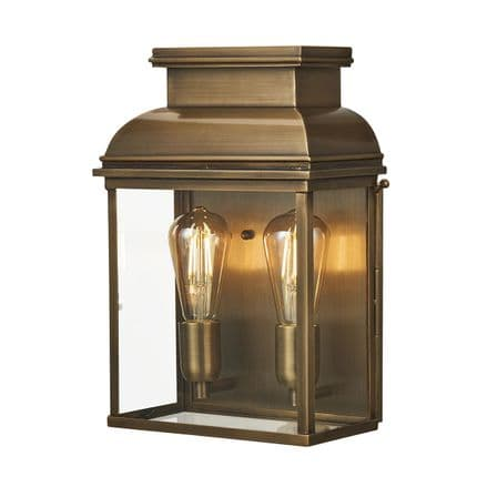 Elstead Old Bailey Double Large Wall Lantern Brass