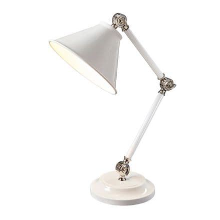 Elstead  Provence Element Mini Table Lamp White/Polished Nickel