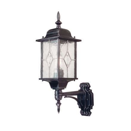 Elstead Wexford Up Wall Lantern Black/Silver